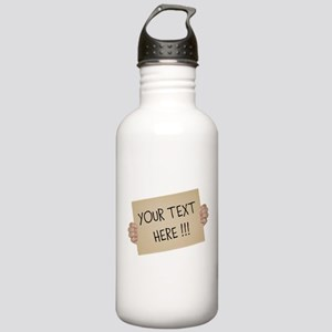 Cardboard Sign Templat Stainless Water Bottle 1.0L