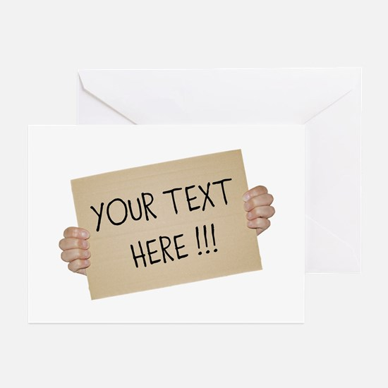 Cardboard Sign Template Greeting Cards (Pk of 10)