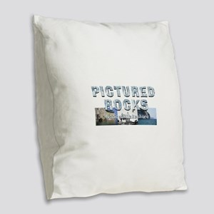ABH Pictured Rocks Burlap Throw Pillow