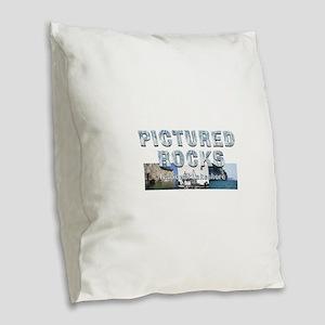 ABH Pictured Rocks Burlap Throw Pillow