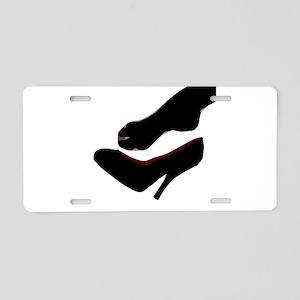 Dropped Shoe Aluminum License Plate