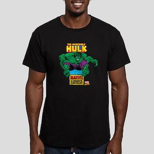 Hulk Marvel Logo Men's Fitted T-Shirt (dark)