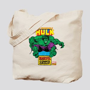 Hulk Marvel Logo Tote Bag