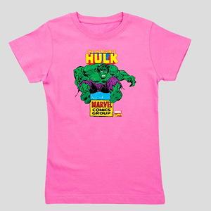 Hulk Marvel Logo Girl's Tee