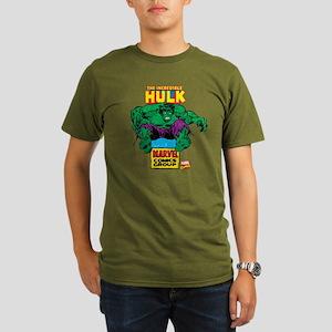 Hulk Marvel Logo Organic Men's T-Shirt (dark)