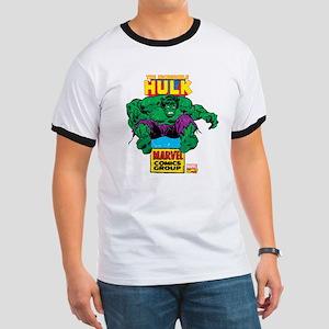 Hulk Marvel Logo Ringer T