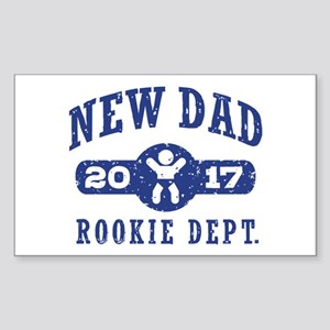 Rookie New Dad 2017 Sticker (Rectangle)
