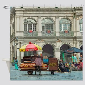 New Orleans Lucky Dogs Hot Dog Shower Curtain
