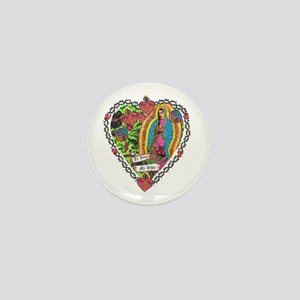 Guadalupe Heart Mini Button