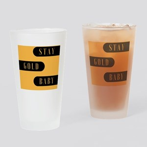 Stay Gold Baby Drinking Glass