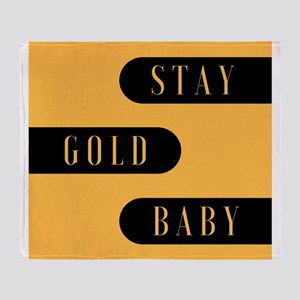 Stay Gold Baby Throw Blanket