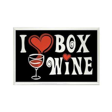 I Heart Box Wine Rectangle Magnet (10 pack)
