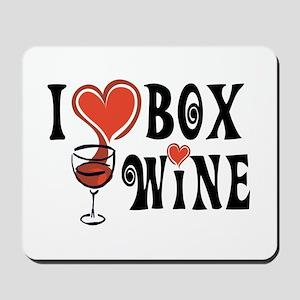 I Heart Box Wine Mousepad