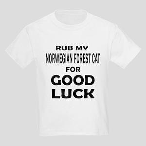Rub my Norwegian Forest Cat for Kids Light T-Shirt