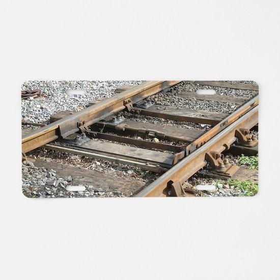 Train Track Aluminum License Plate