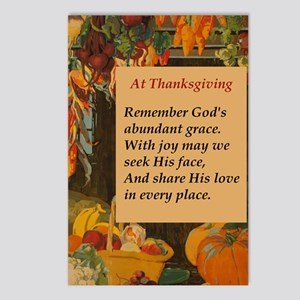 At Thanksgiving Poem Postcards (Package of 8)