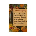 At Thanksgiving Poem Rectangle Magnet