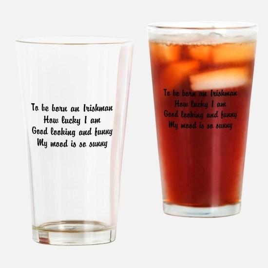 Funny poem Irishman Drinking Glass