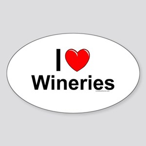 Wineries Sticker (Oval)