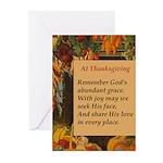At Thanksgiving Poem Greeting Cards (Pk of 20)