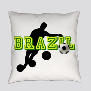 Brazil Soccer Player Everyday Pillow