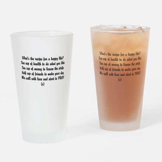 Funny poem happiness Drinking Glass