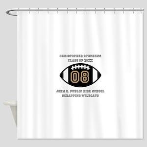 Custom Football Player Name | Class Shower Curtain