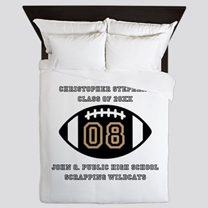 Custom Football Player Name | Class | Queen Duvet