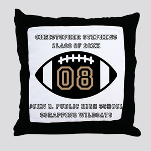 Custom Football Player Name | Class | Throw Pillow