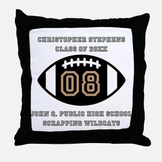Custom Football Player Name | Class | Throw Pillow