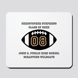 Custom Football Player Name | Class | Sc Mousepad