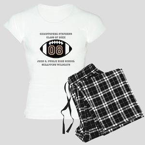 Custom Football Player Name Women's Light Pajamas