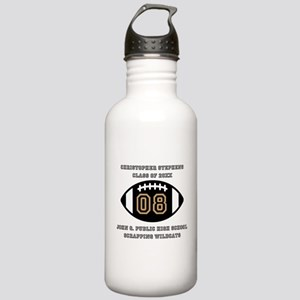 Custom Football Player Stainless Water Bottle 1.0L