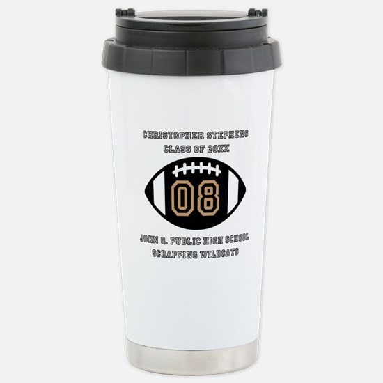 Custom Football Player Stainless Steel Travel Mug