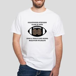 Custom Football Player Name | Class White T-Shirt