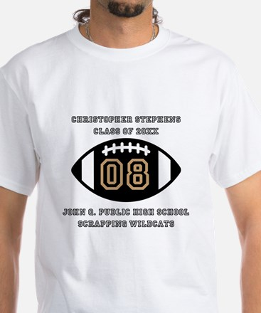 Custom Football Player Name | Class White T-Shirt