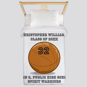 Custom Basketball Player Name | Number Twin Duvet