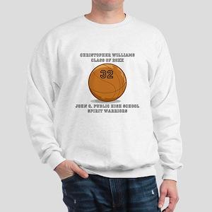 Custom Basketball Player Name | Number Sweatshirt