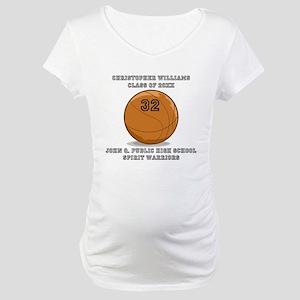 Custom Basketball Player Name | Maternity T-Shirt
