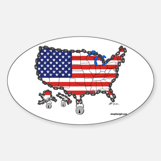 Homeland Security Oval Decal