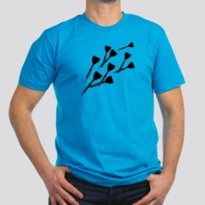 Darts sports Men's Fitted T-Shirt (dark)