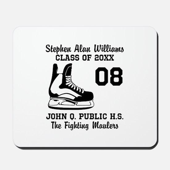Custom Hockey Player Name   Number   Tea Mousepad
