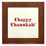 Chappy Chanukah Framed Tile