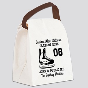 Custom Hockey Player Name | Numbe Canvas Lunch Bag