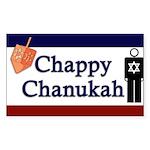Chappy Chanukah Rectangle Sticker