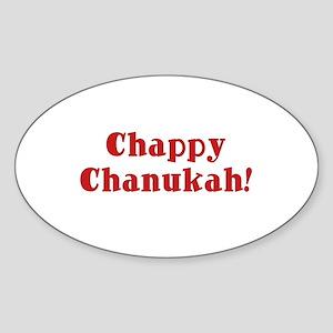Chappy Chanukah Oval Sticker