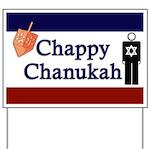 Chappy Chanukah Yard Sign