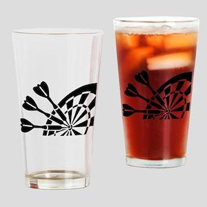 Darts board Drinking Glass
