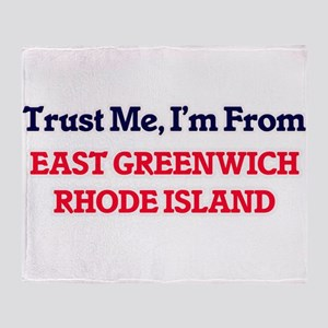 Trust Me, I'm from East Greenwich Rh Throw Blanket
