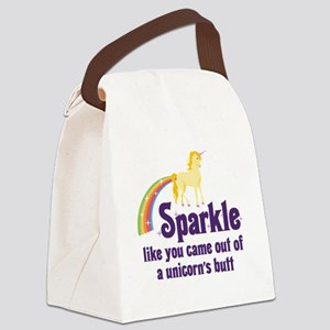 Unicorn Butt Canvas Lunch Bag